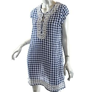Calypso St. Barth blue/white gingham dress/coverup